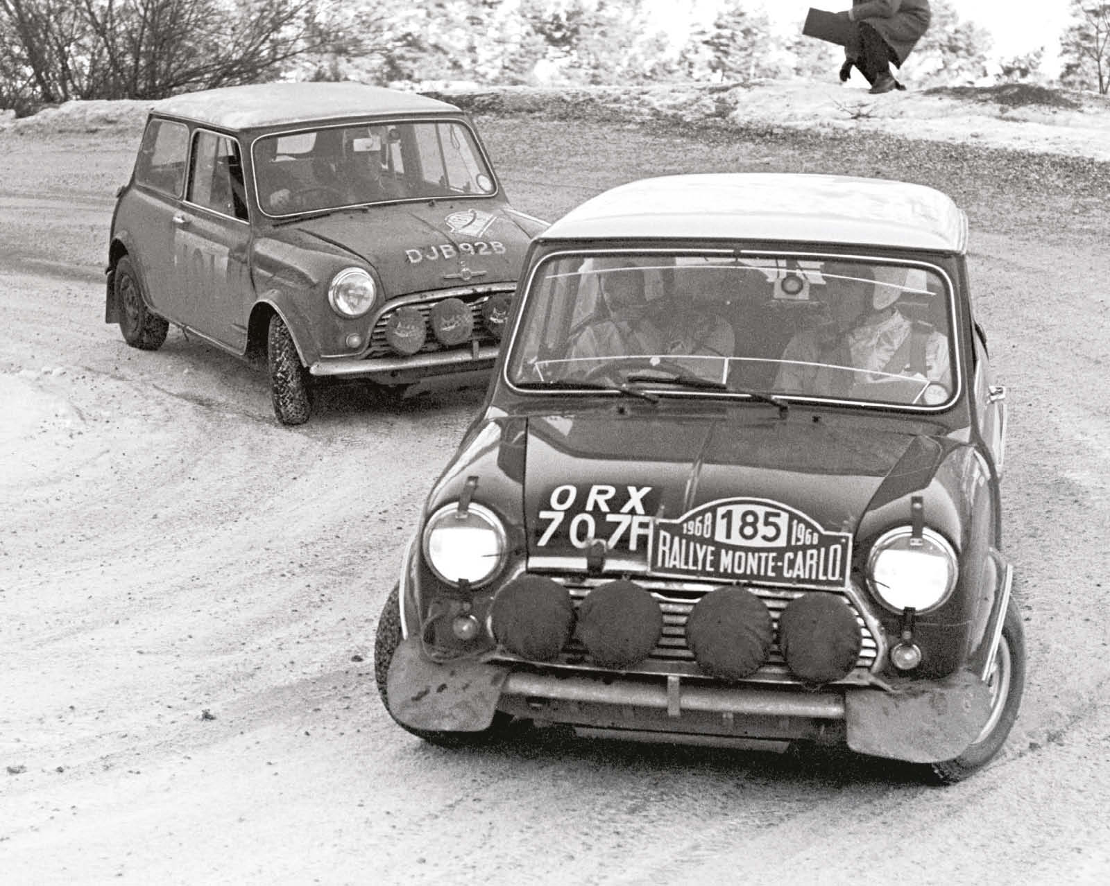 Tony Fall and Mike Wood took their Mini to fourth in the 1968 Monte