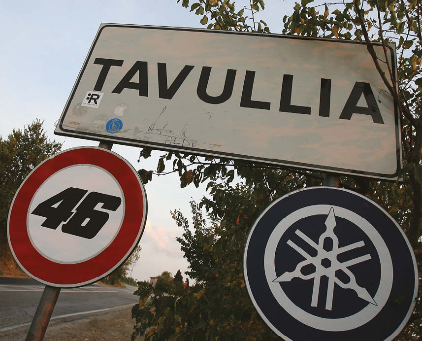 Customary 50kph speed limit has been reduced to 46 in honour of Rossi's race number