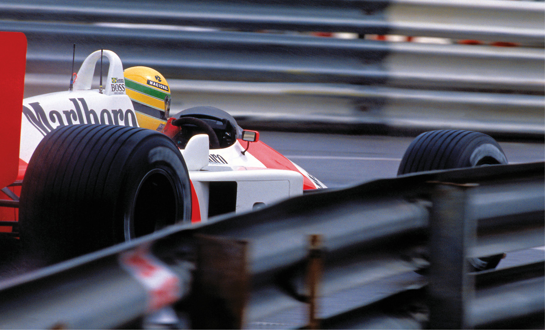 Monaco 1988, when Senna felt he had absolutely nothing left to give –a sensation he'd never felt before