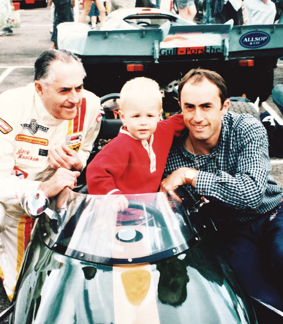 The generation game: Sir Jack Brabham (left) with a very young Sam and David
