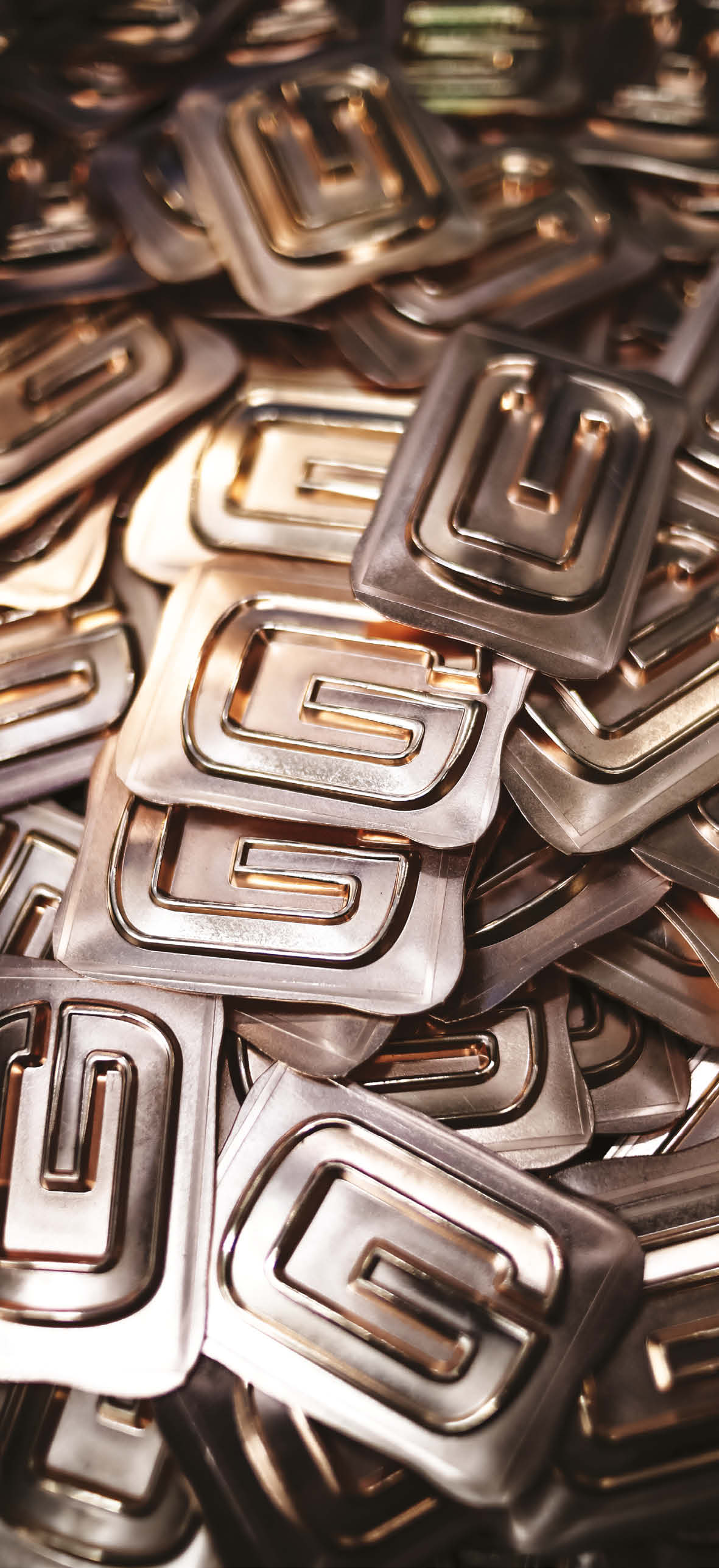 Heaps of Range Rover special-edition letters ready for inlay