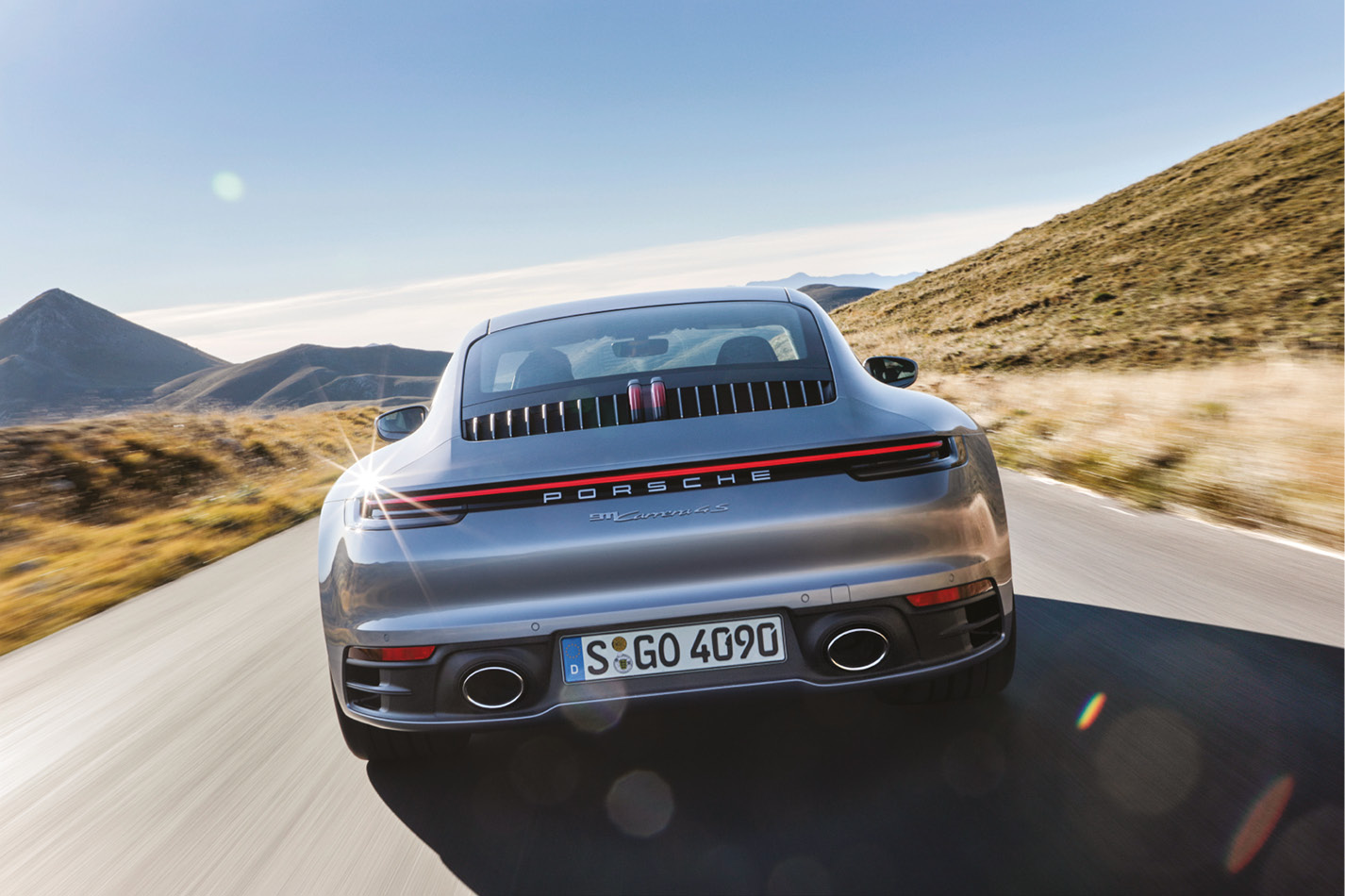 The four-wheel-drive 4S will be less playful than the rear-wheel 911 2S