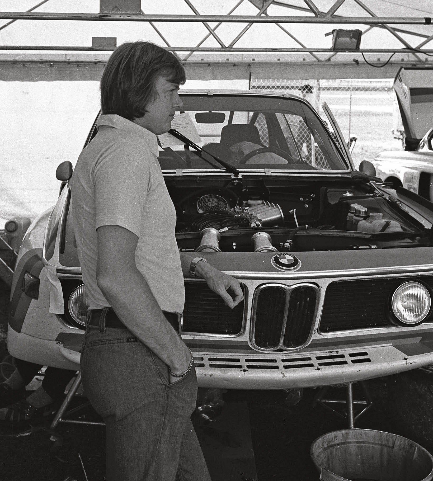 Ronnie Peterson with the BMW 3.0 CSL he shared with Redman at Daytona in '75