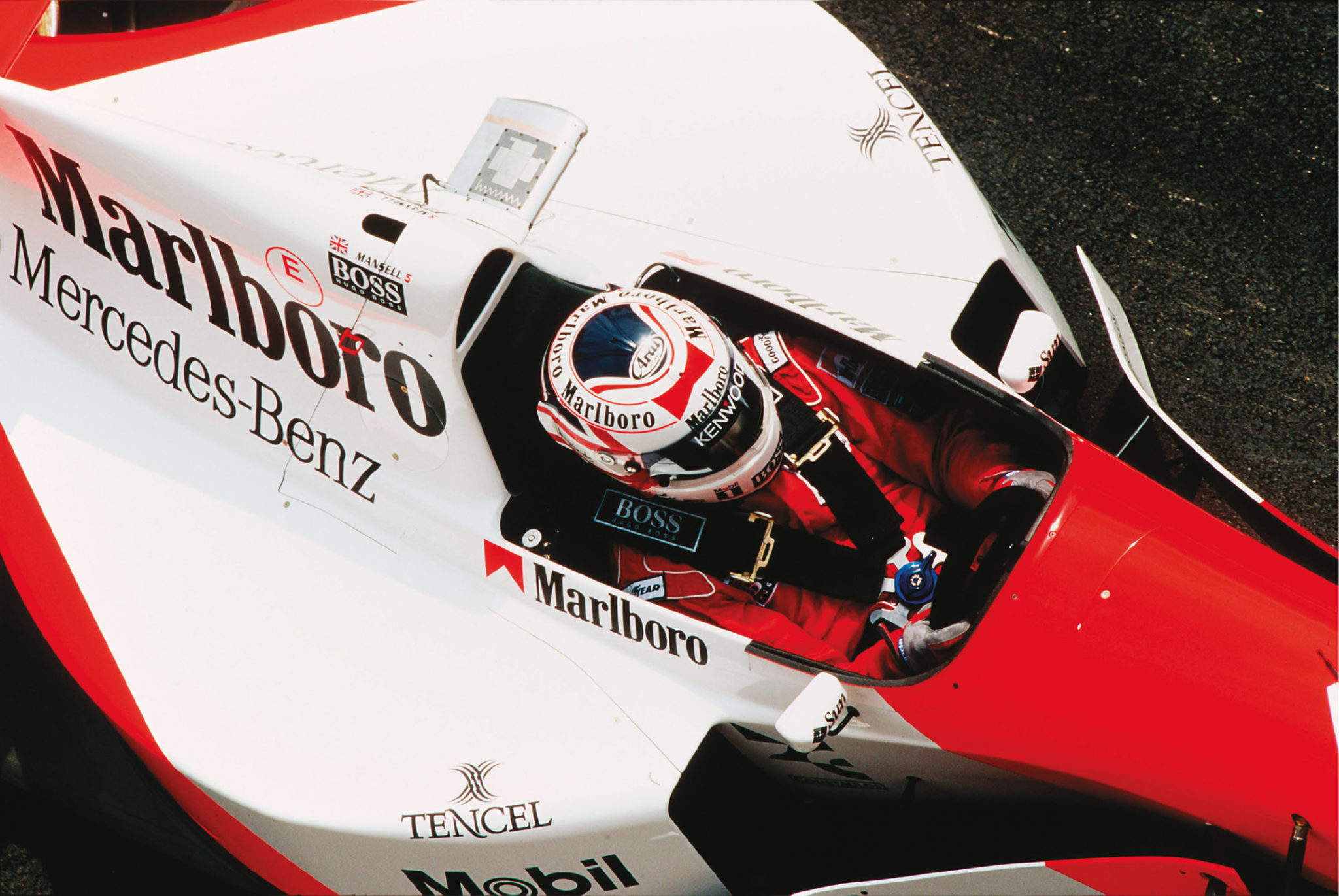 Nigel Mansell was meant to make his glorious comeback with McLaren, but couldn't fit in the car properly.