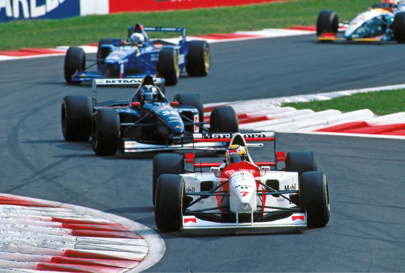 Mark Blundell suffered in his McLaren, only managing 10th in the championship.
