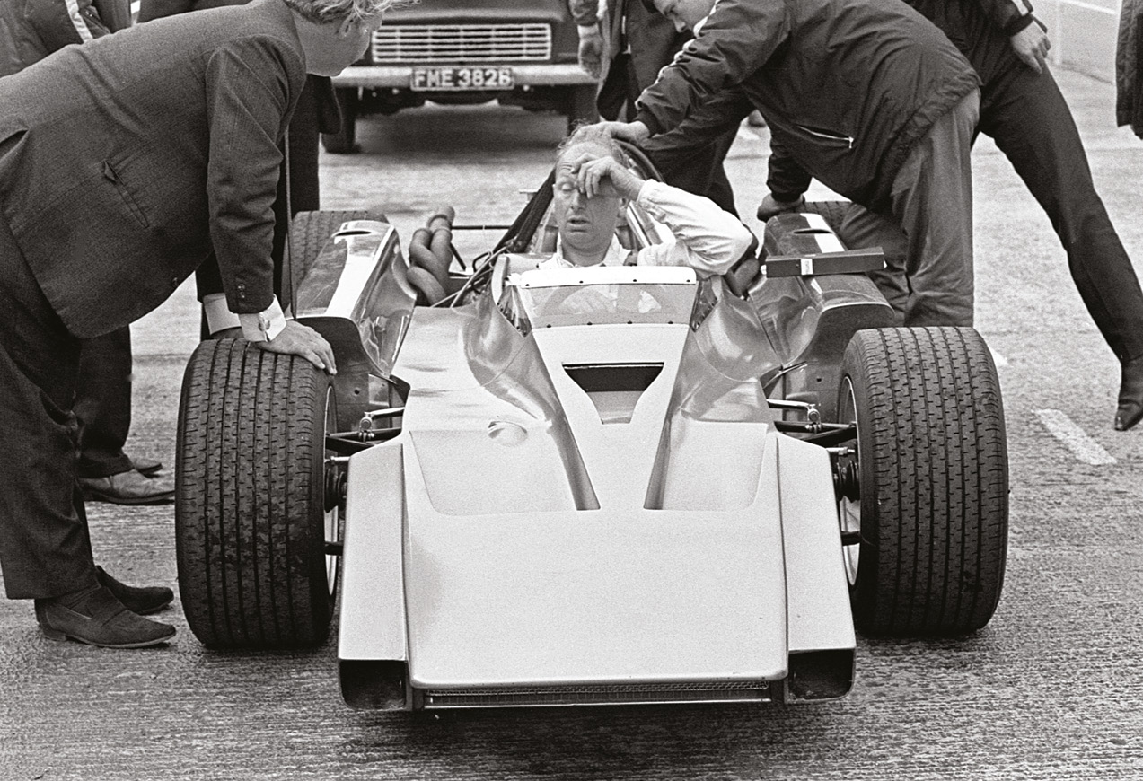 The Cosworth's unusual off-centre chassis design made room for the forward propshaft.