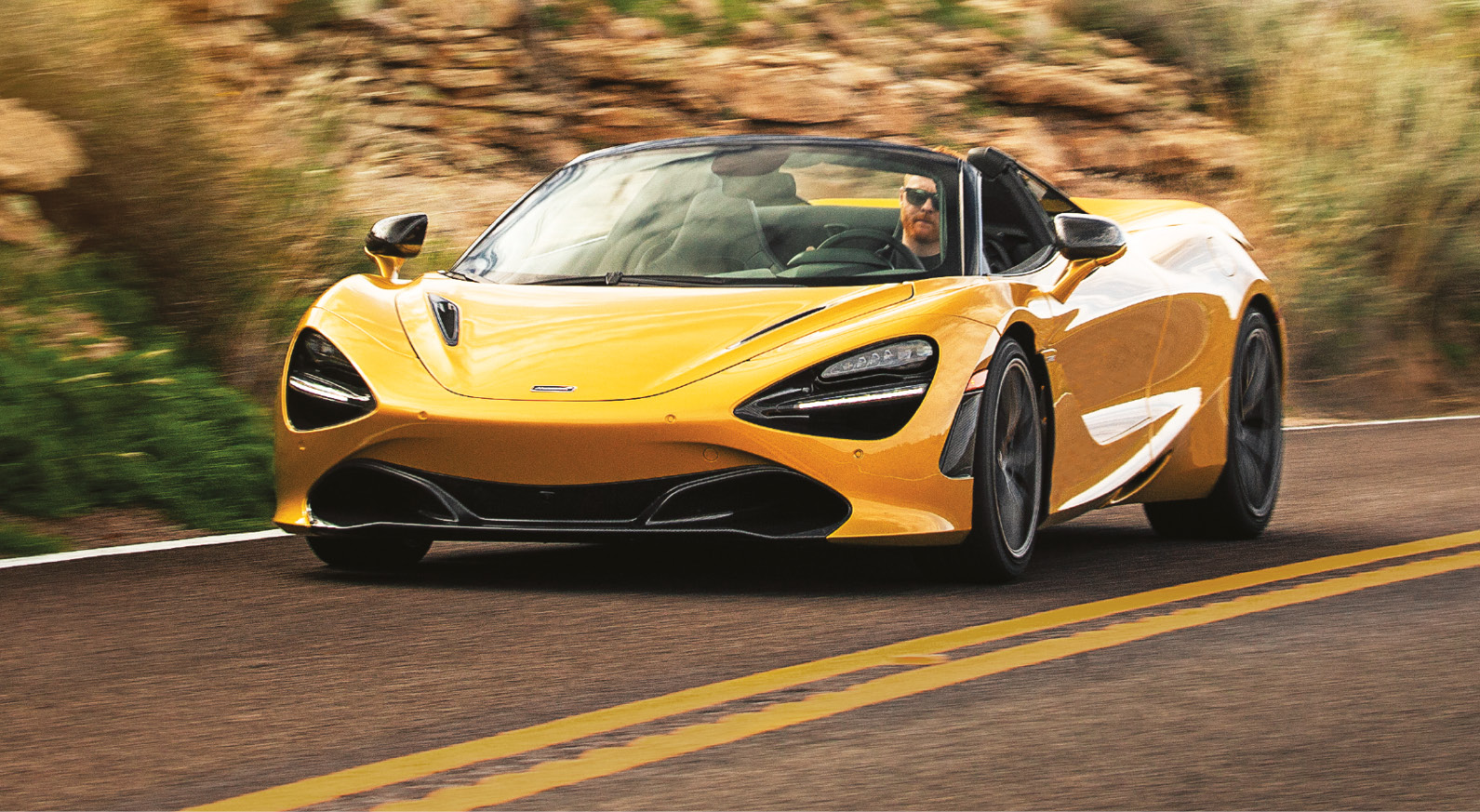 The 720S Spider lacks none of the rigidity of the hard-top sister car