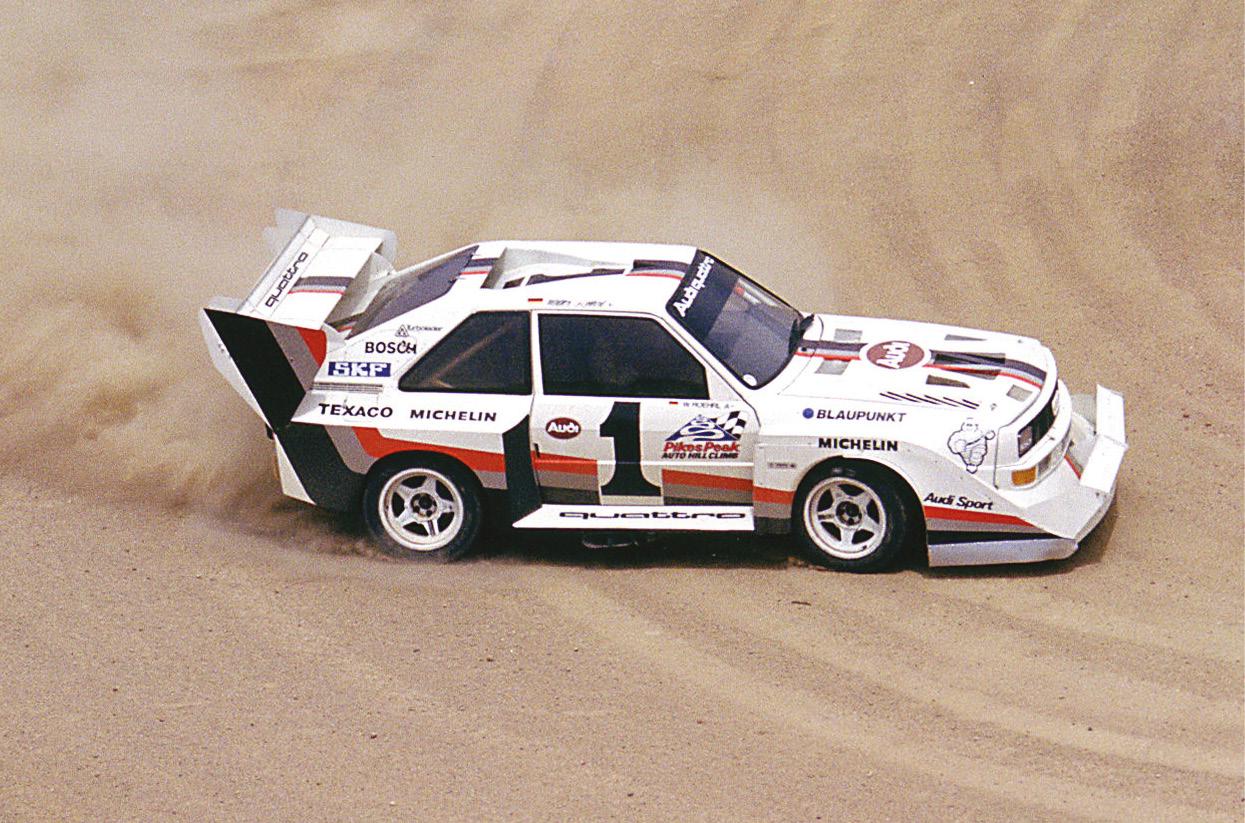 Walter Röhrl's winning Audi quattro.