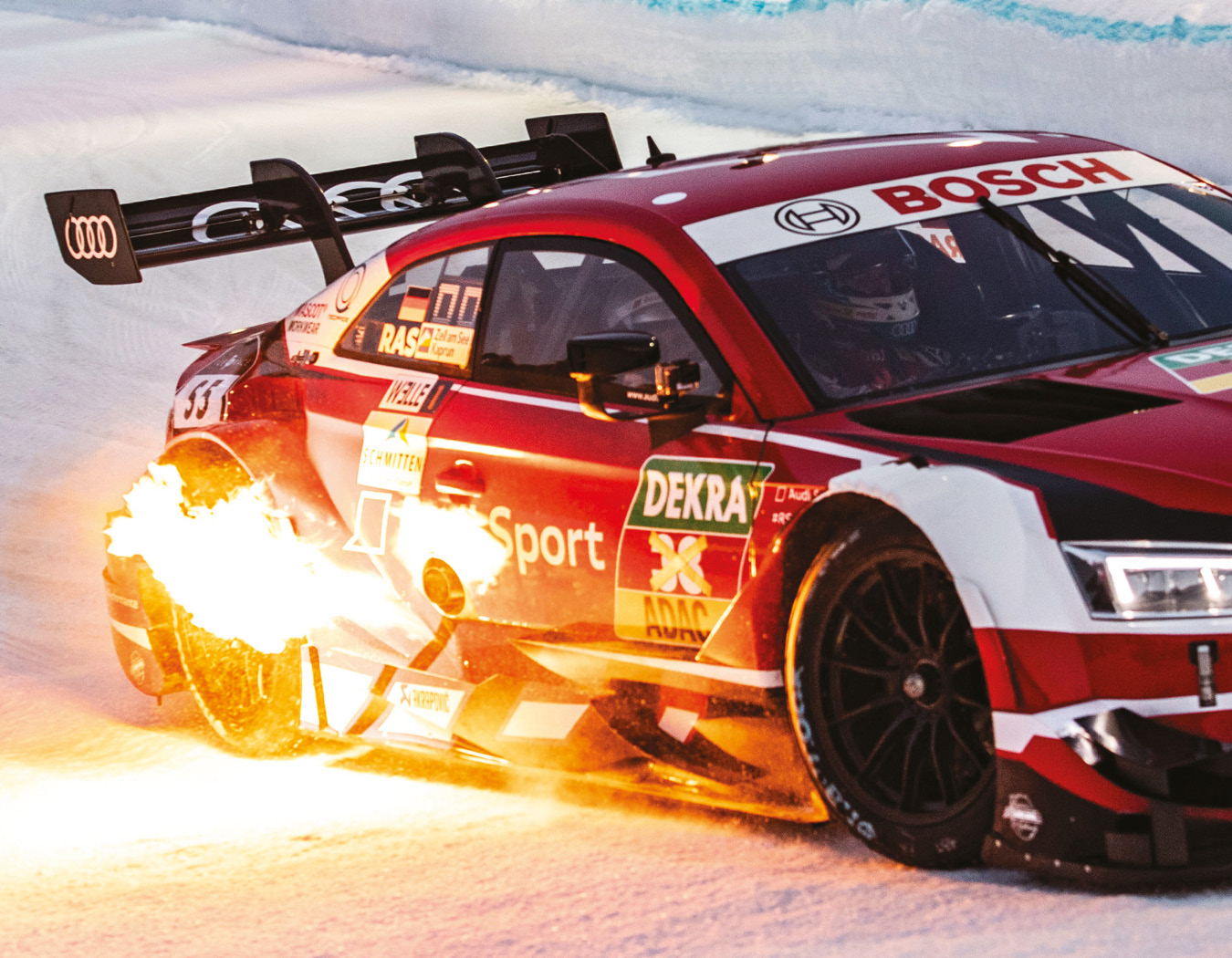 Audi RS5 DTM struggled to put the power down in 2017 champ Rast's hands on unsuitable spikes