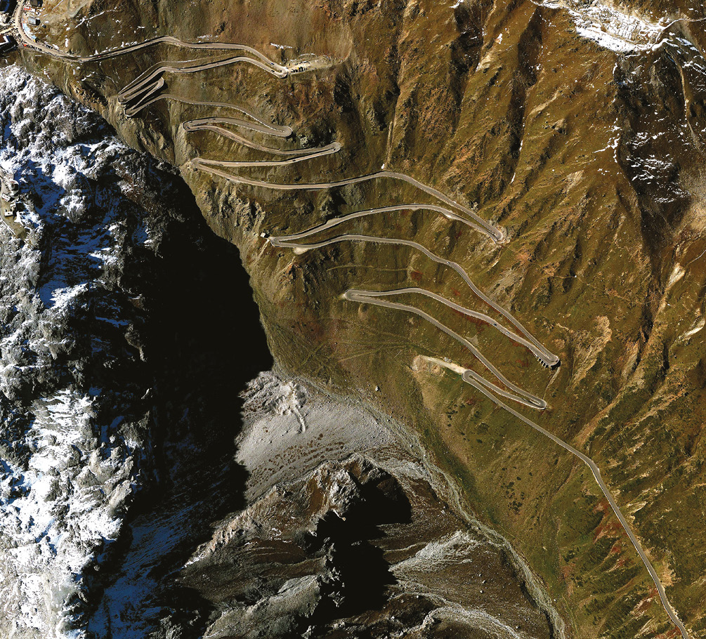 Italy's Stelvio pass with its 45 hairpins hosted powered hillclimbing from 1925 – and still does