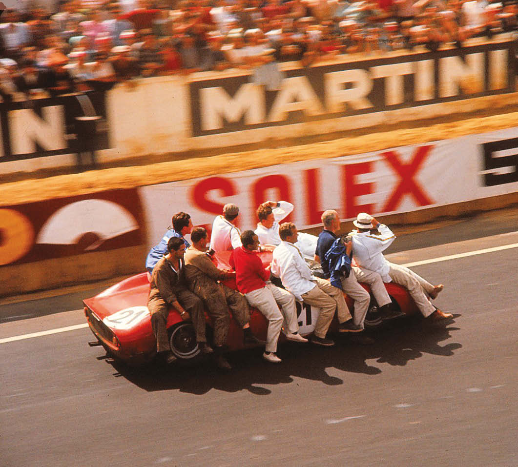 Hold on to your hat! The North American Racing Team (NART) takes a ride on the winning Ferrari 250LM of Masten Gregory and Jochen Rindt (plus maybe Ed Hugus... who controversially said he drove a stint, but was never officially credited with doing so)