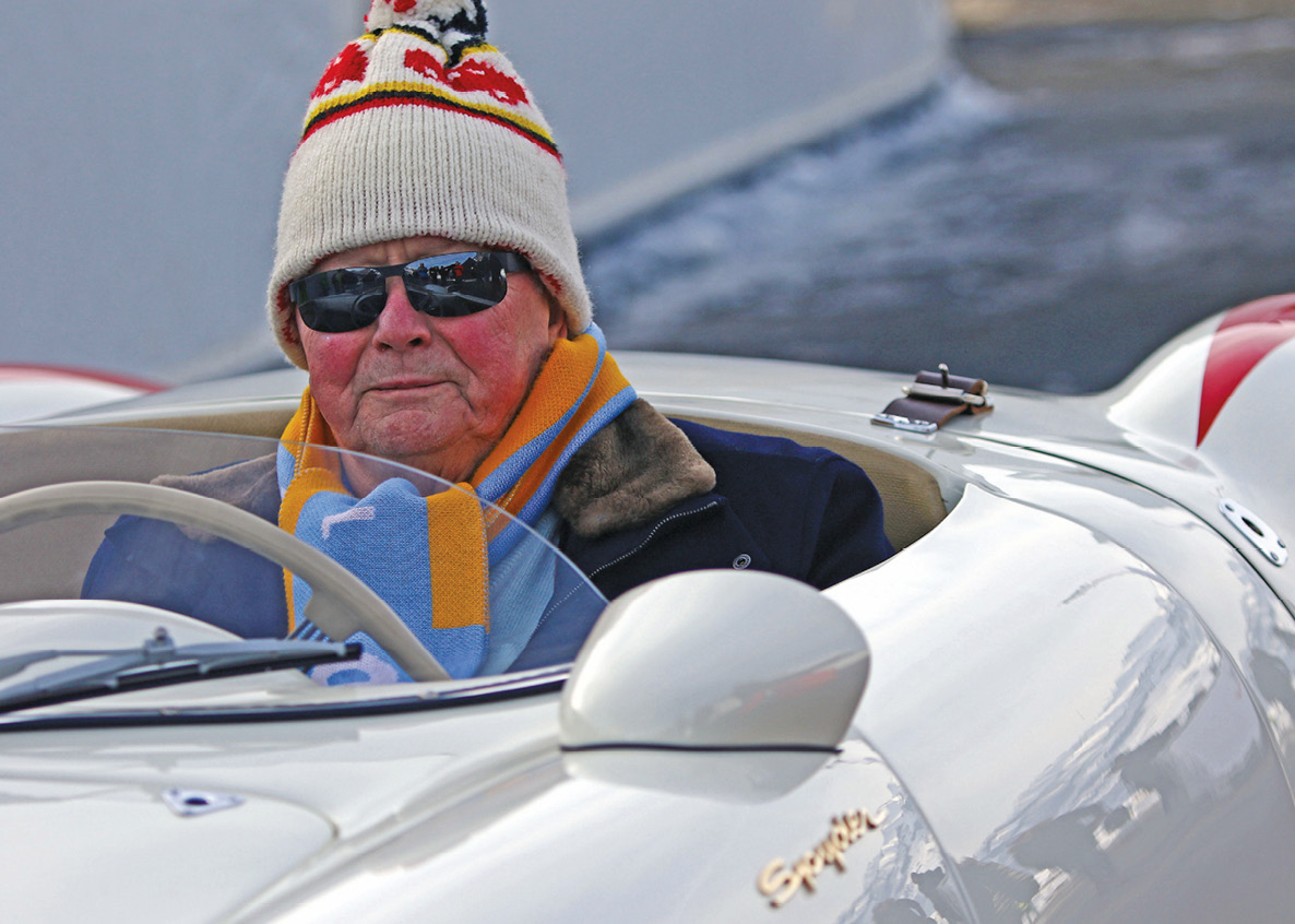 Dressed for the occasion: Wolfgang Porsche, father of event co-organiser Ferdinand
