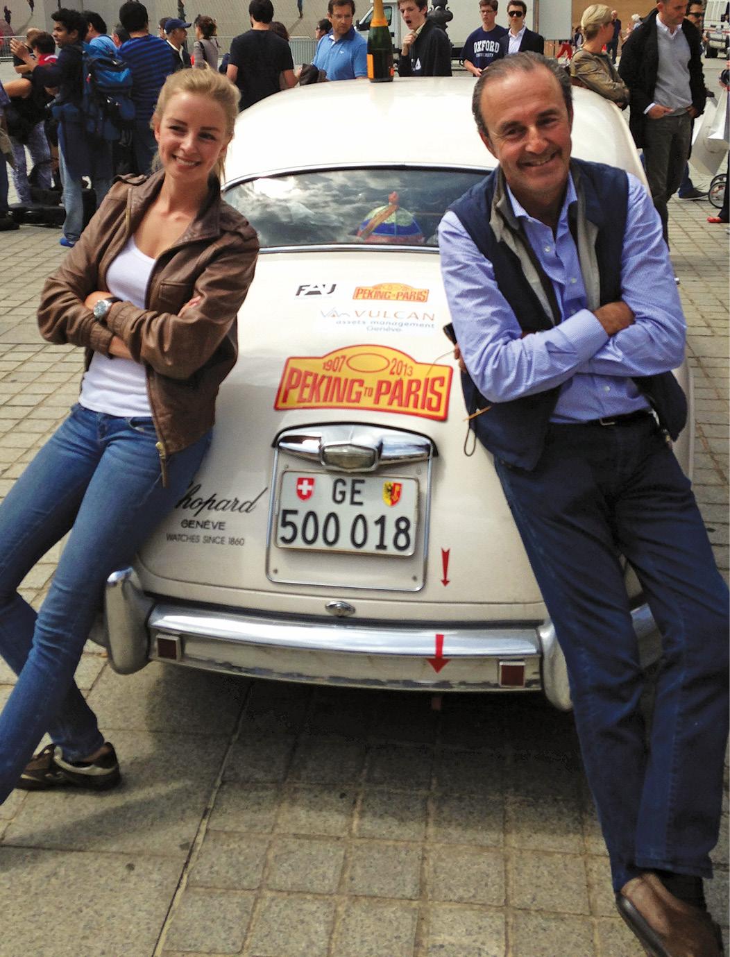 Spadini celebrated his daughter's birthday on 2013 Peking to Paris
