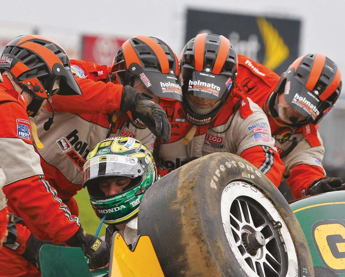 IndyCar's Tony Kanaan is treated