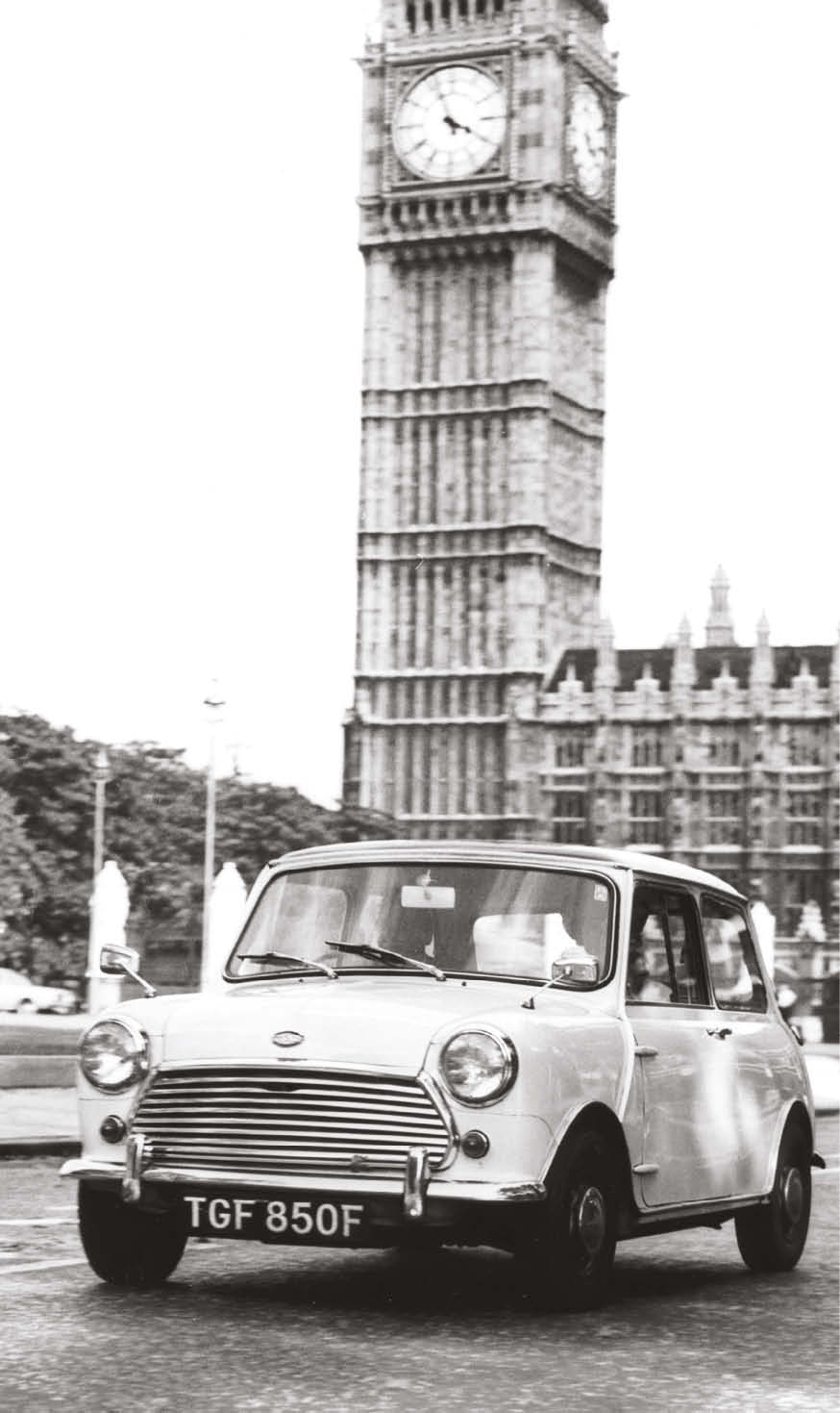 A British icon: the Mini Cooper had near-unrivalled handling due to its short chassis and wheels at each corner