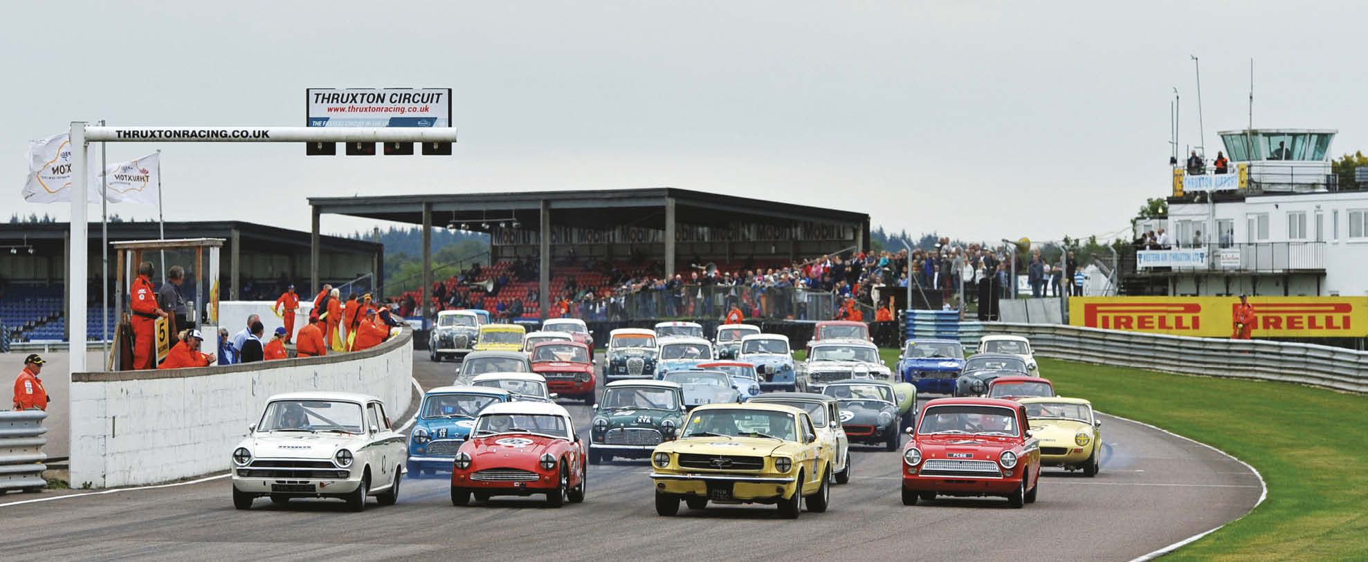 HRDC sports and saloon racers will take part in the Thruxton Celebration