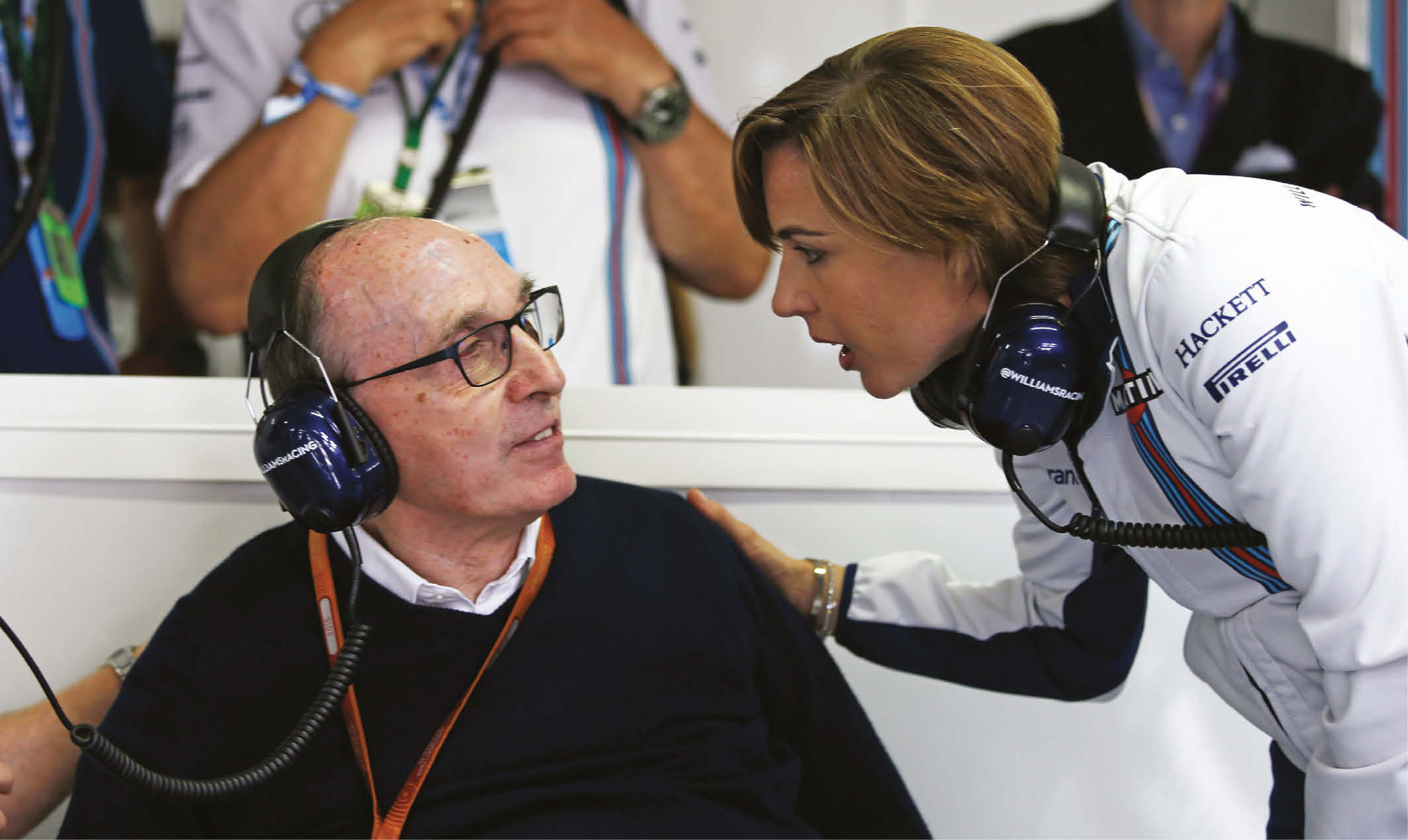 Claire with father Sir Frank, who built up one of F1's powerhouse teams during the 1980s