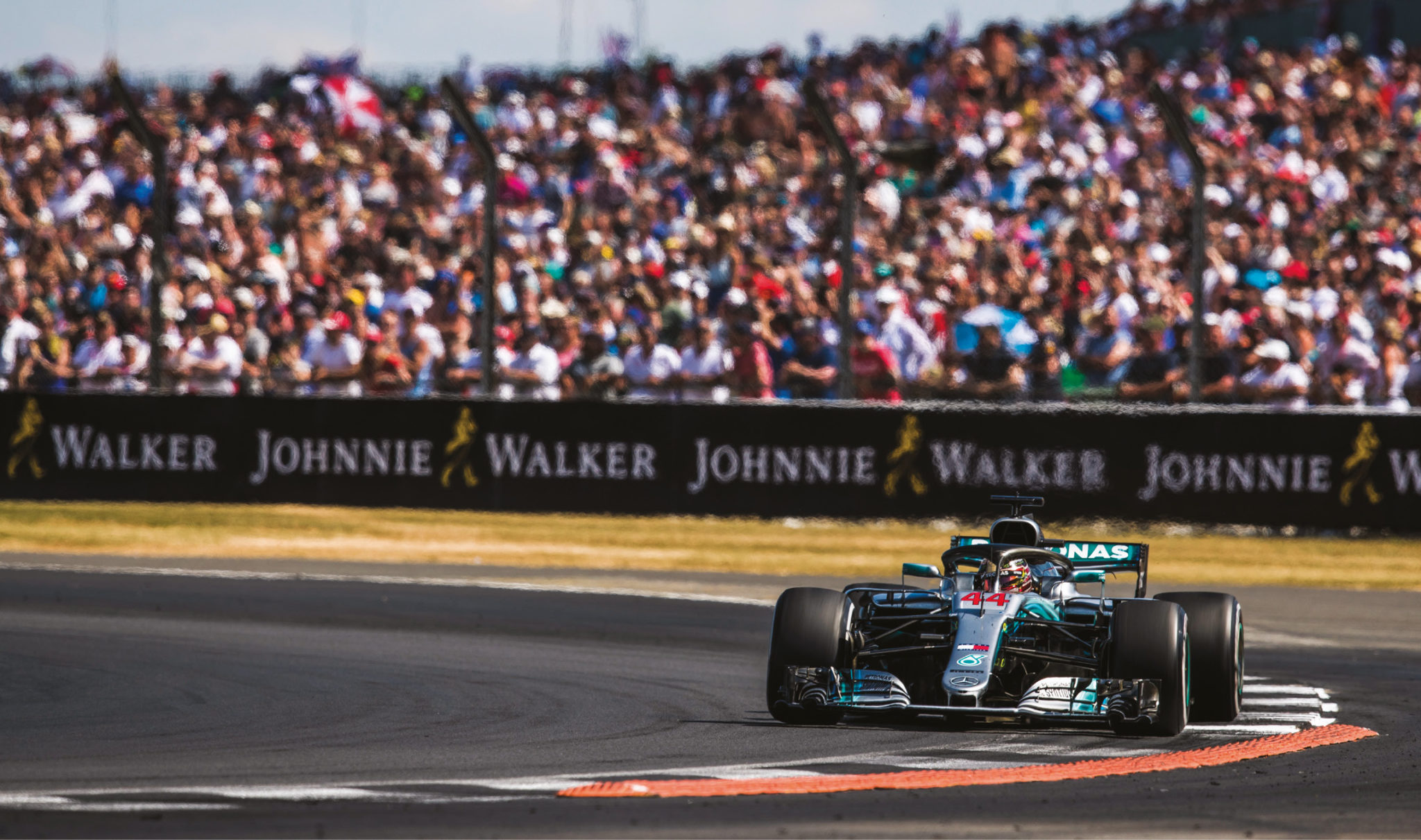 A master at home: Lewis Hamilton regularly finds a way of raising his game at Silverstone