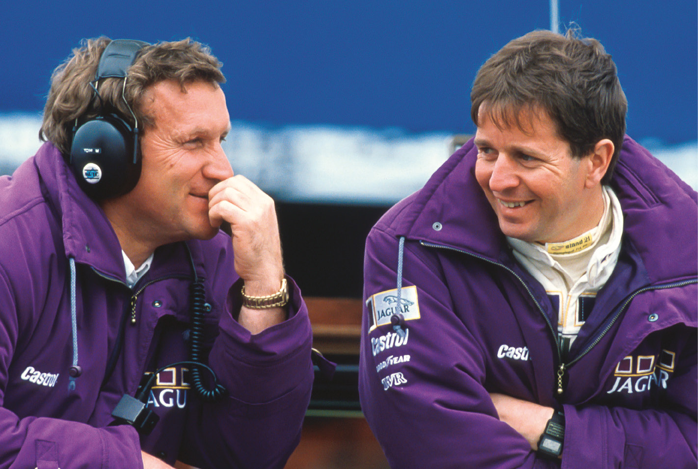 Tom Walkinshaw, left, was like a motor sport father figure to a young Brundle, right