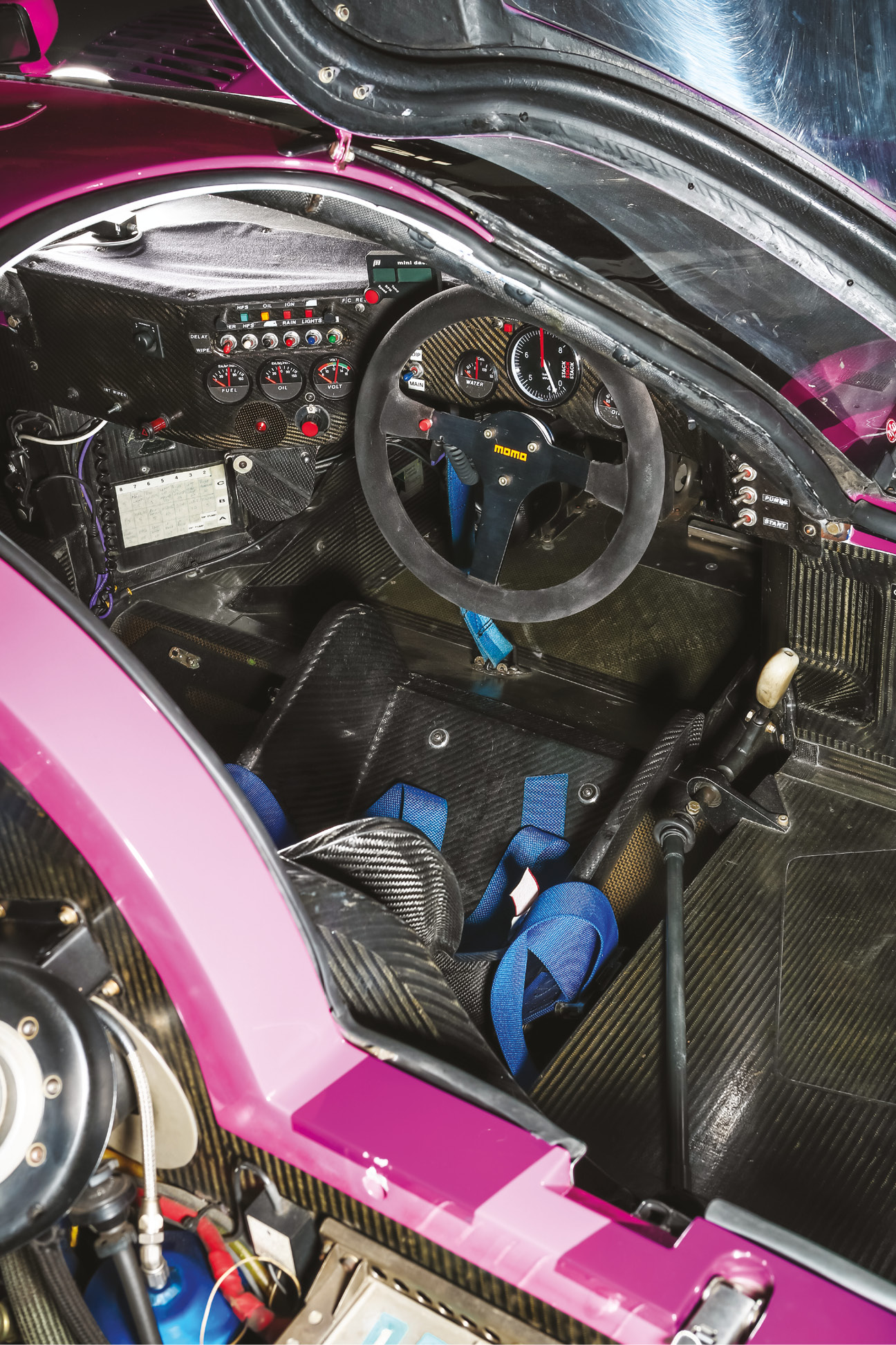 The XJR-12's carbon- fibre cell was cutting edge at the time, but lacks many driver safety systems compared with modern cars