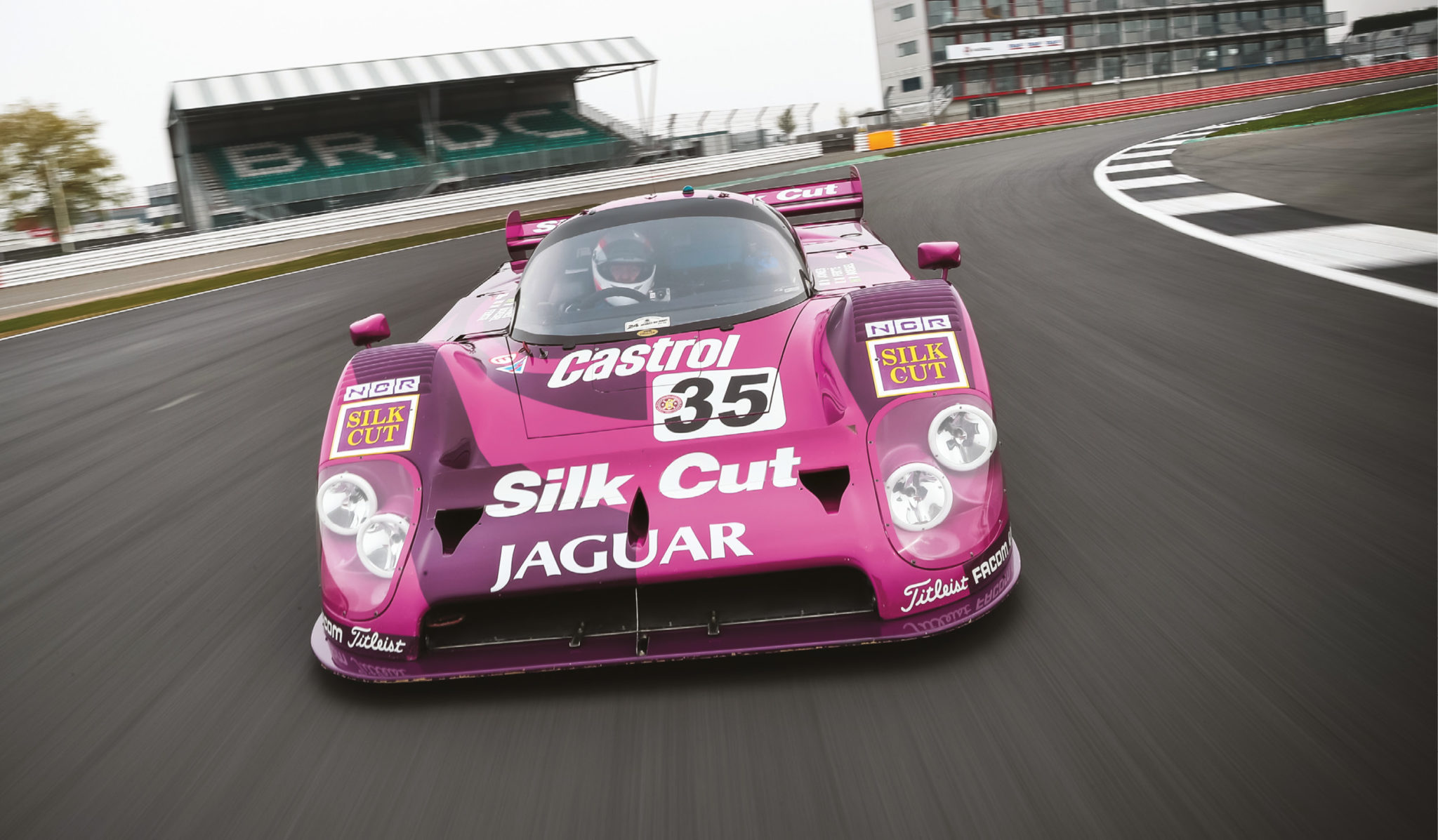 The Le Mans-spec Jaguars ran low rear wings and trimmed-back aero to cut through the air, which made acceleration brutal