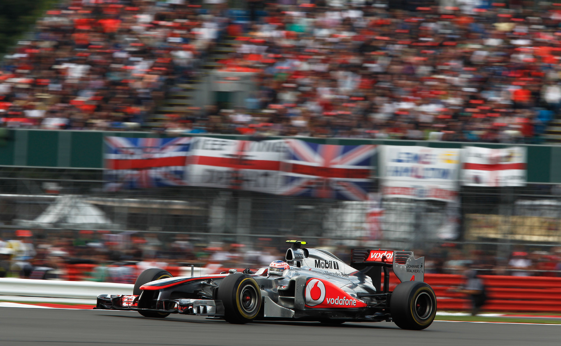 Jenson Button never had the luck when racing in front of his home crowd