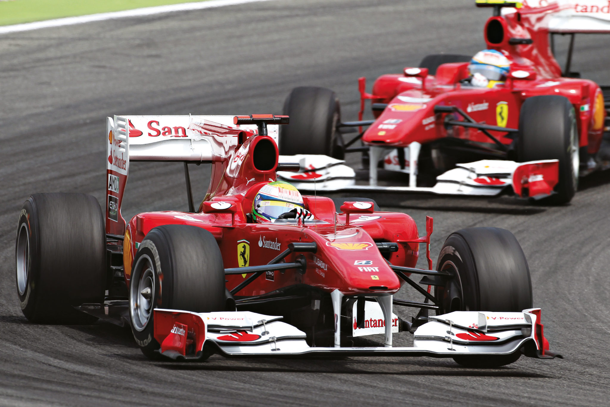 """""""Felipe, Fernando is faster than you – do you understand?"""" Germany 2010, before the swap"""