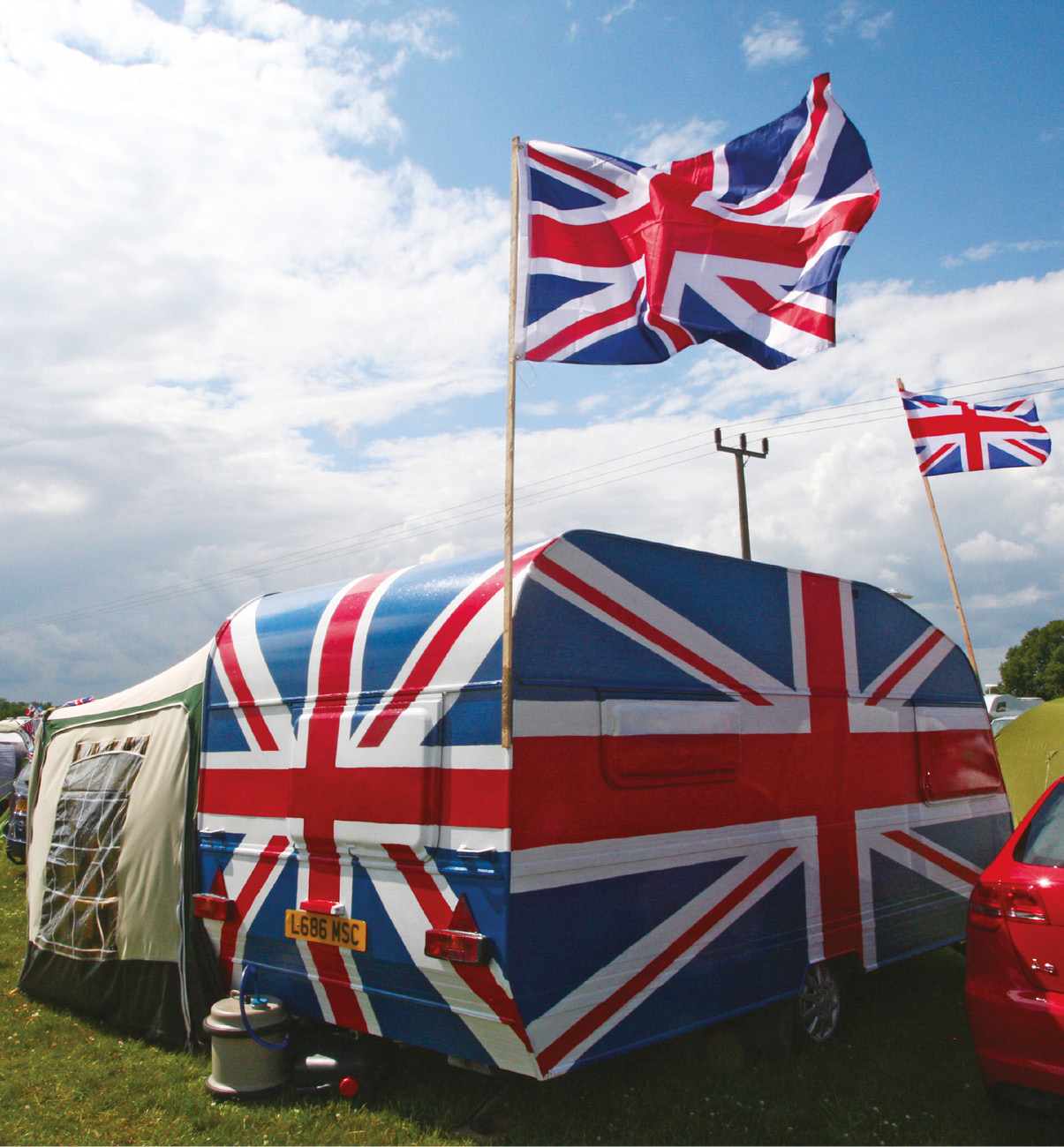 Some incredibly passionate, and patriotic, fans can be found camping at the British Grand Prix