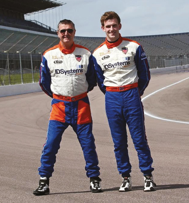 Martin and Stefan (pictured at Rockingham) regularly do coaching work together, and catch up over a burger and a beer