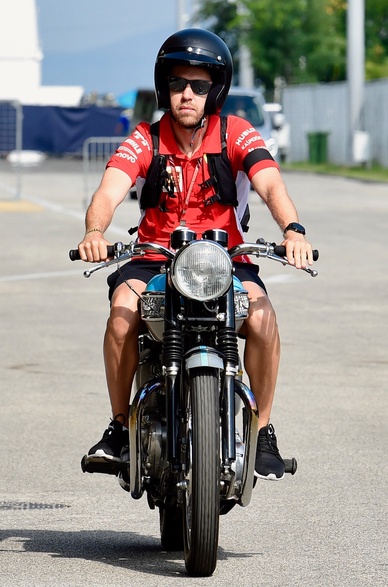 Vettel is an avid collector of classic motorcycles, particularly those from the 1970s