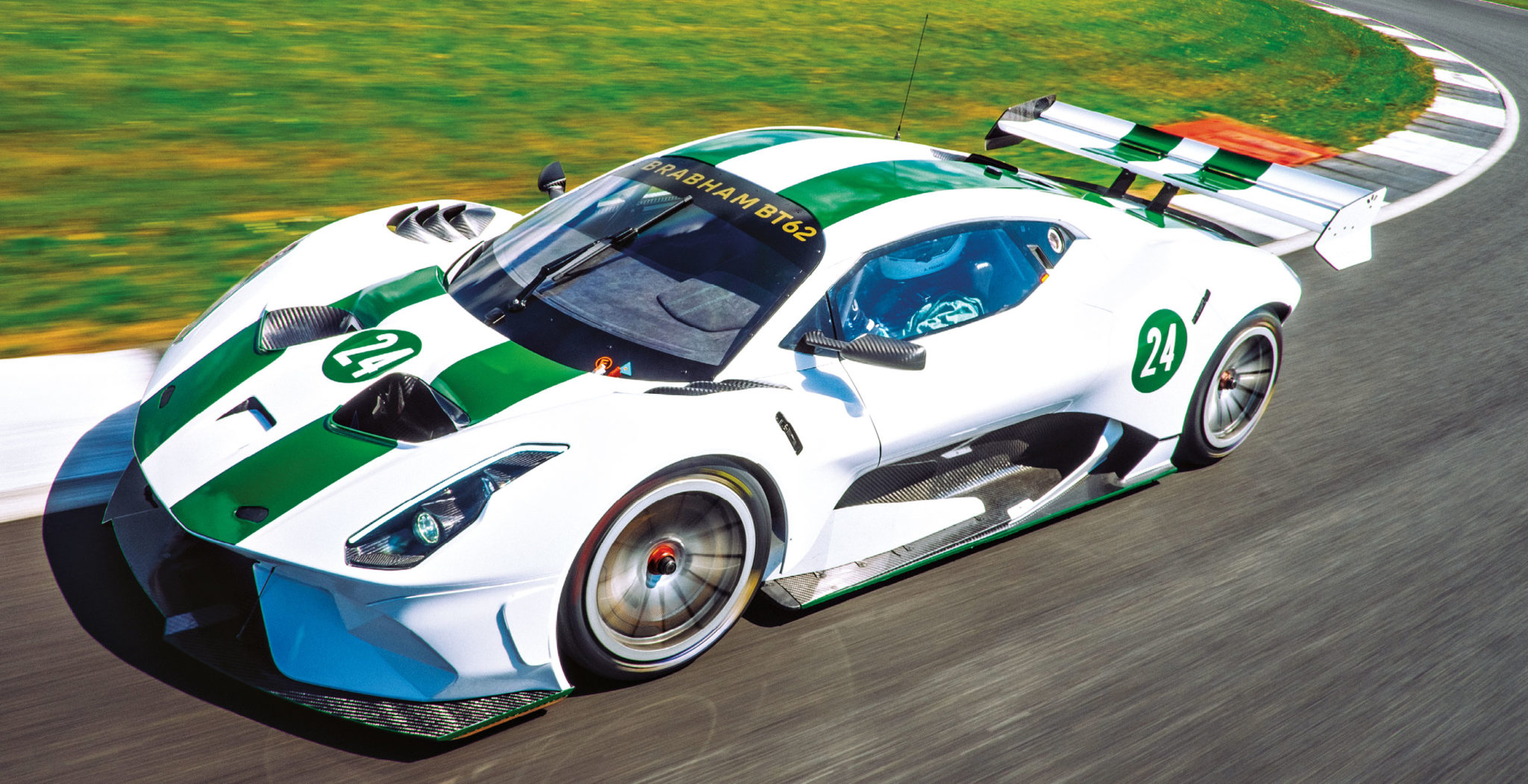 The BT62 weighs just 972kg and has a tonne of downforce