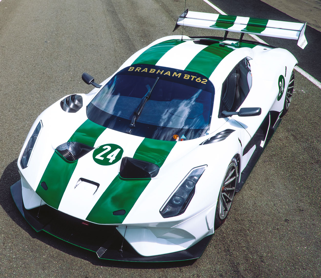 The BT62 is the first Brabham car since the ill-fated BT60B Formula 1 machine of 1992. The team wound up after that highly unsuccessful season