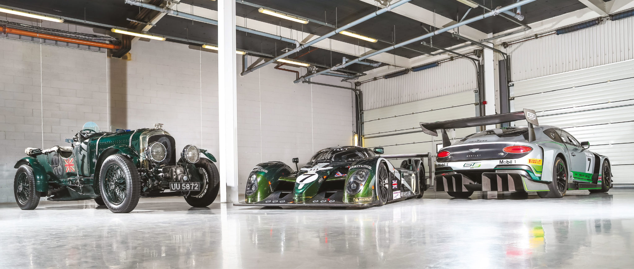 Sir Henry Birkin's Blower Bentley, the Le Mans-winning Speed 8 and the new Continental GT3 – together at last