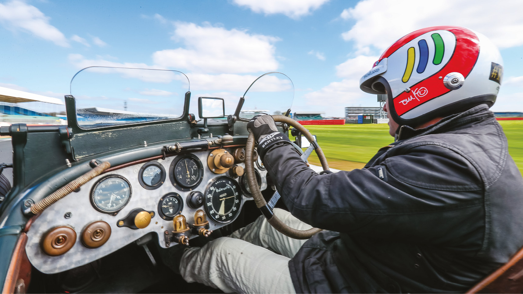 Kristensen had to adapt to the old-school technology of the vintage 1930 Bentley