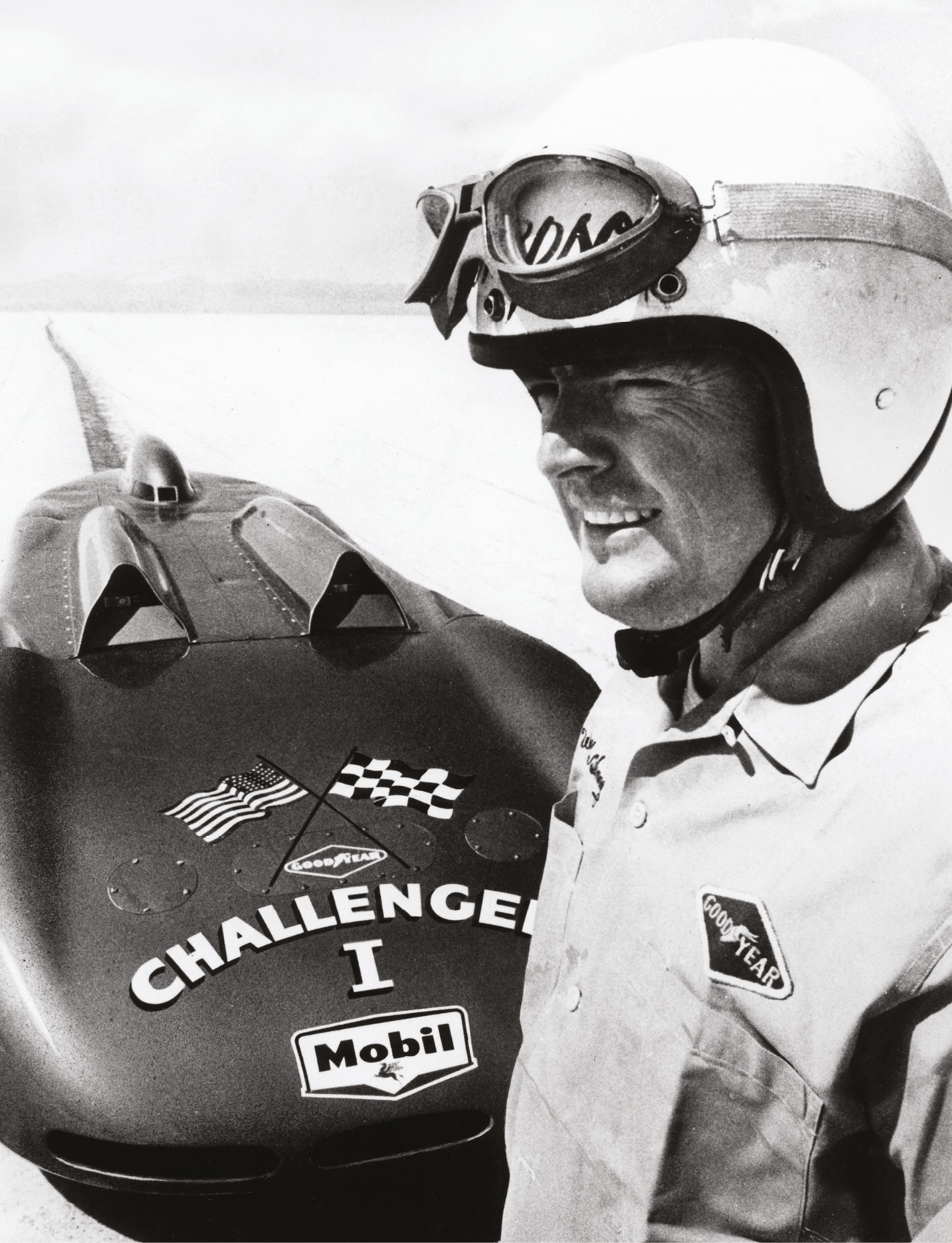 Mickey Thompson hit 406mph aboard Challenger I in 1960 but the car broke on his return run, so he missed the record