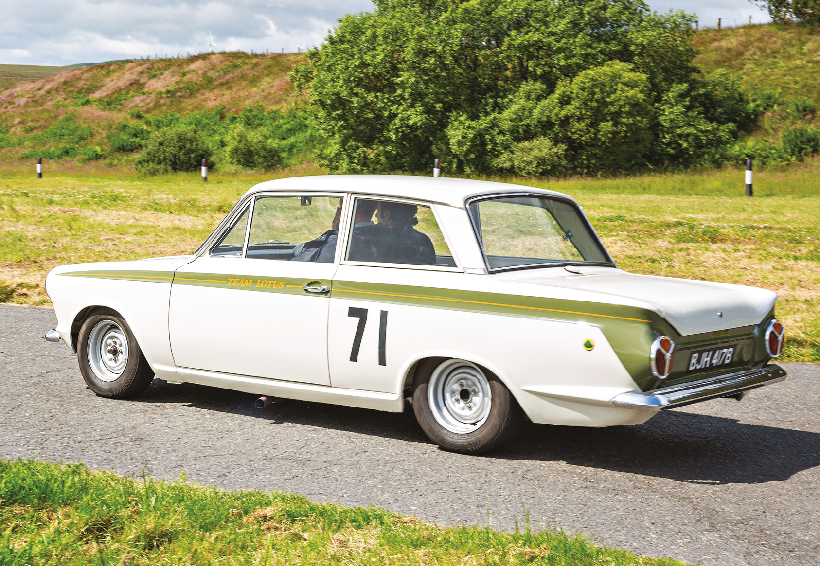 Clark's Cortina in a more tranquil setting, 55 years later