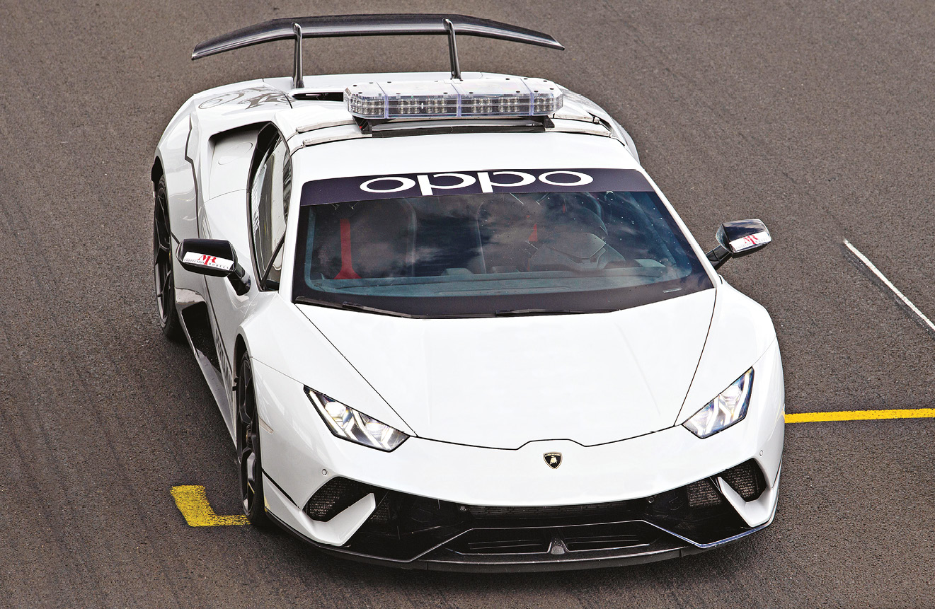 Huracán Performante conquered the Nürburgring, before spawning two race versions. It's used as the Super Trofeo safety car