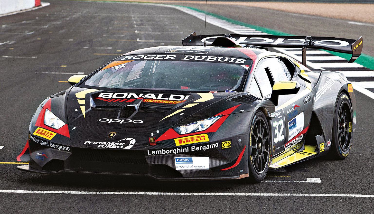 New Super Trofeo features heavy aero changes, especially around the engine cover.