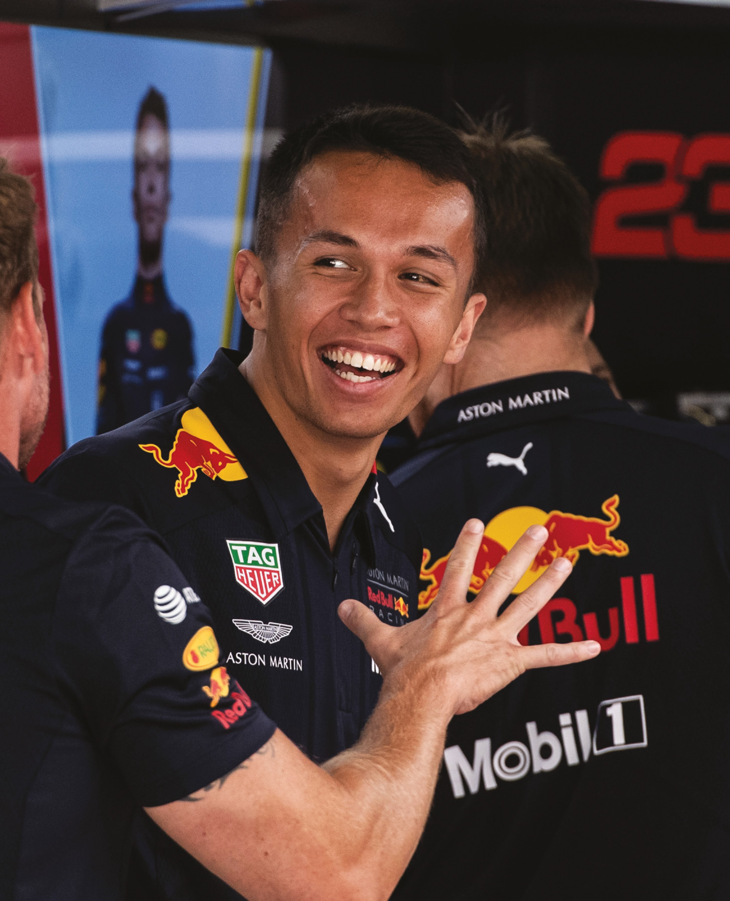 Runner-up in GP3, then third in Formula 2 last year, Albon is now in at the deep end with the Red Bull team