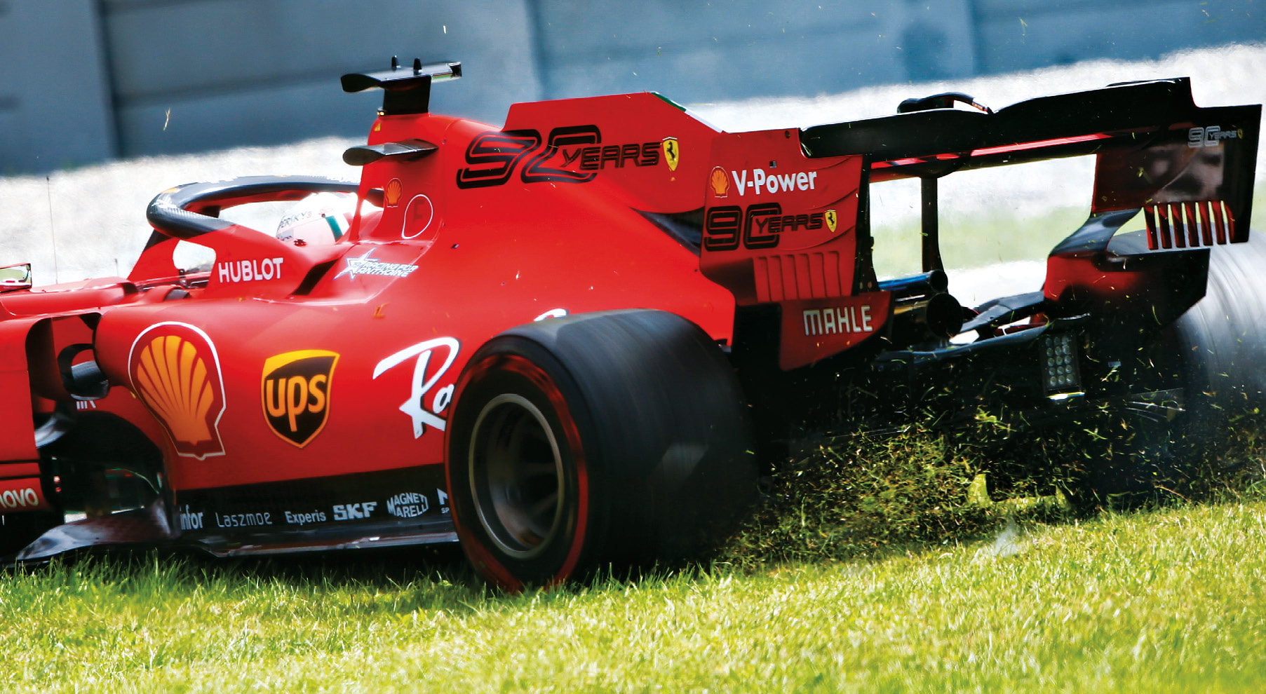 Monza wasn't kind to Vettel, who spun and then made a rookie error while rejoining