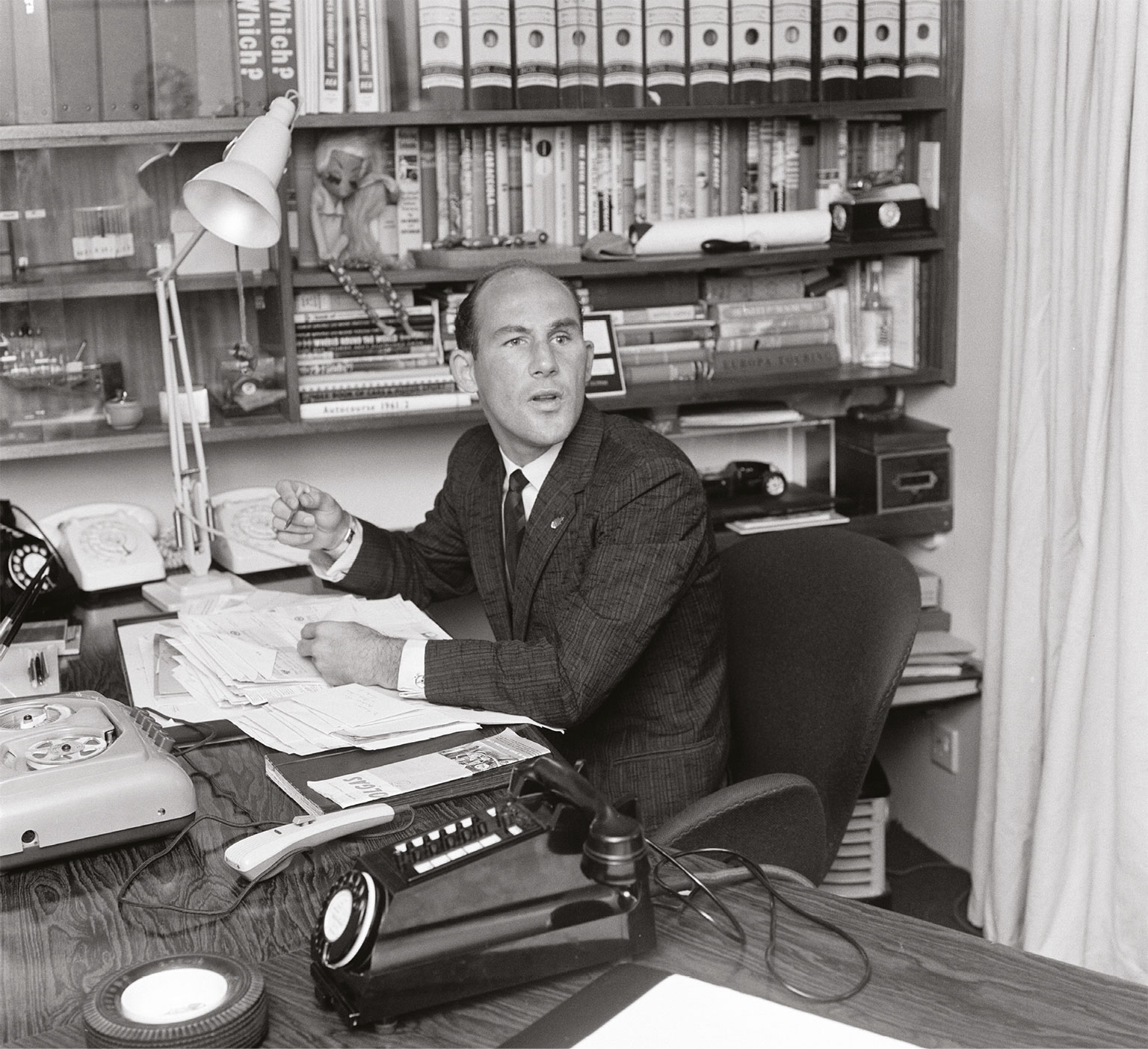 Dictaphone, lamps and phones galore… Stirling loved gadgets and his new house had to be crammed with them