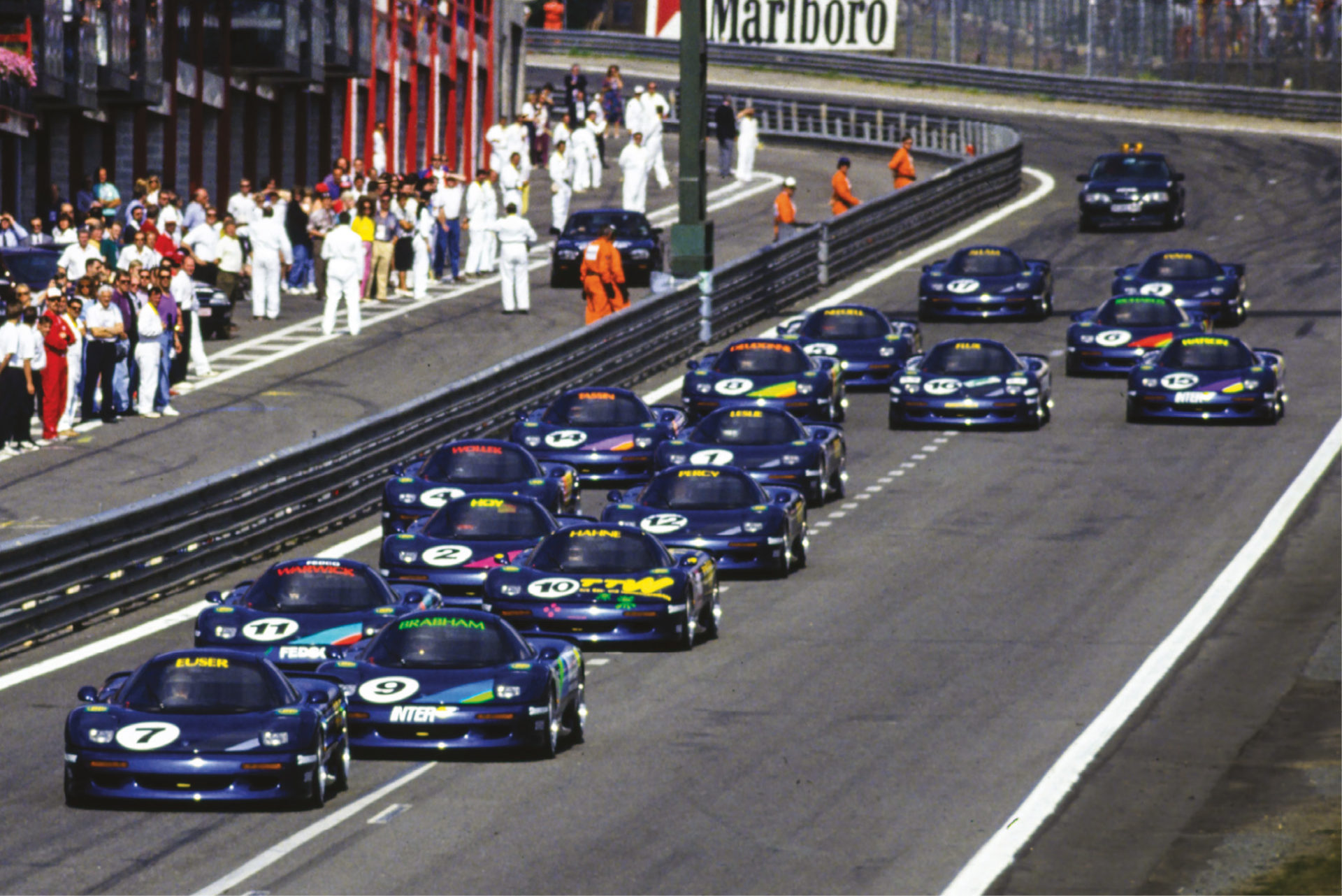 The Jaguar Intercontinental Challenge was capped by a $1m race on the undercard of the Belgian GP at Spa. Euser led early on, but Hahne won