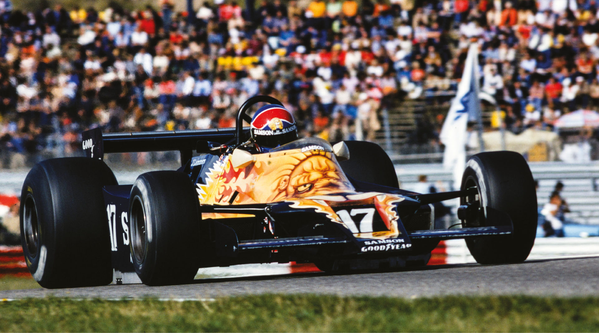 Dutchman Lammers made his F1 debut with Shadow and the wild-liveried DN9 in 1979