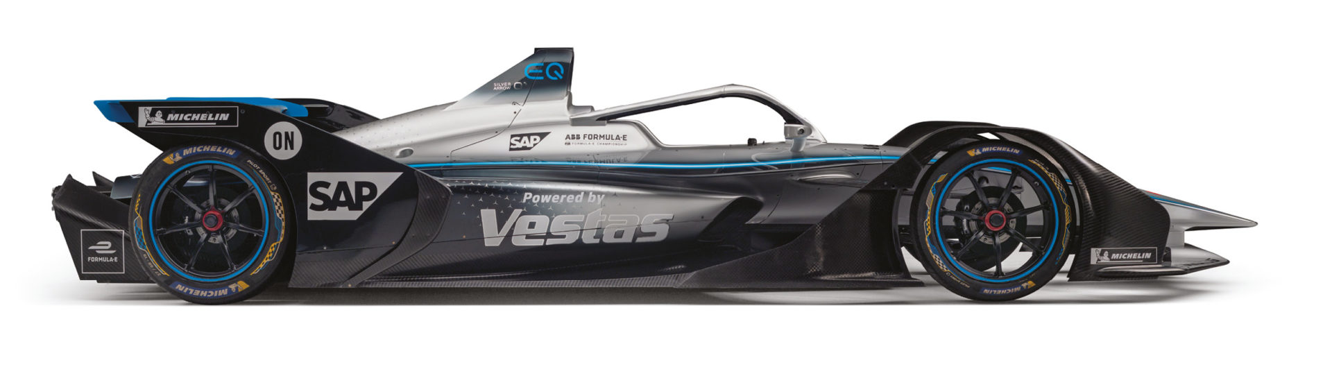 The new Mercedes-Benz EQ Silver Arrow 01 that will be its rival for top newcomer