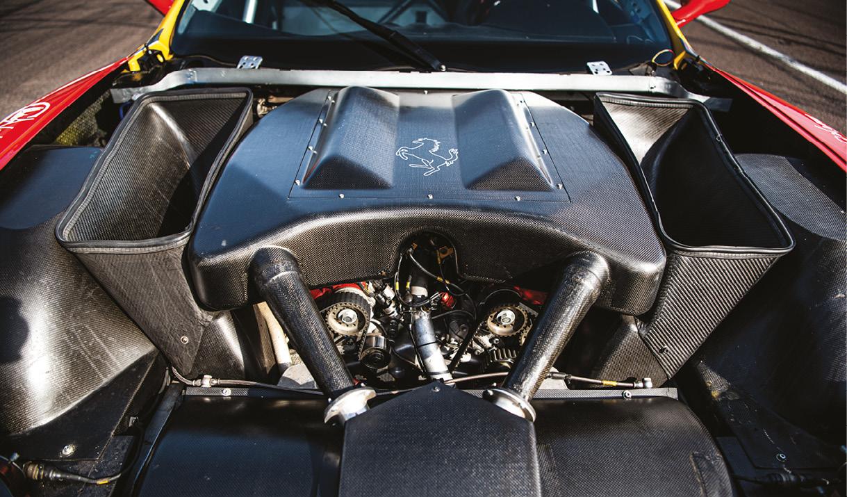 Huge V12 engine cosseted in carbon fibre gives 600bhp