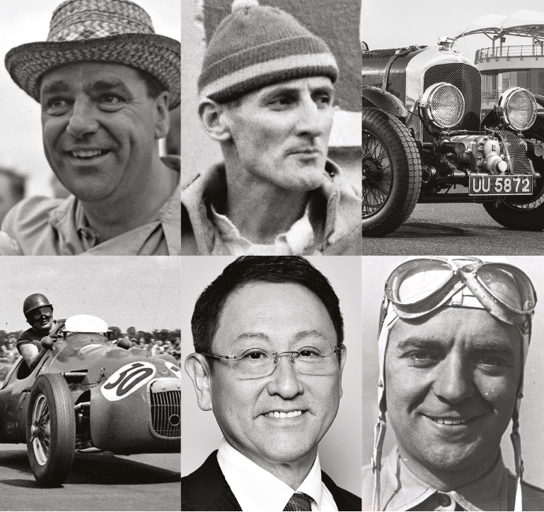 Inspiration candidates: John Cooper, Ken Miles, Bentley Blower, HWM, Akio Toyoda and Bernd Rosemeyer