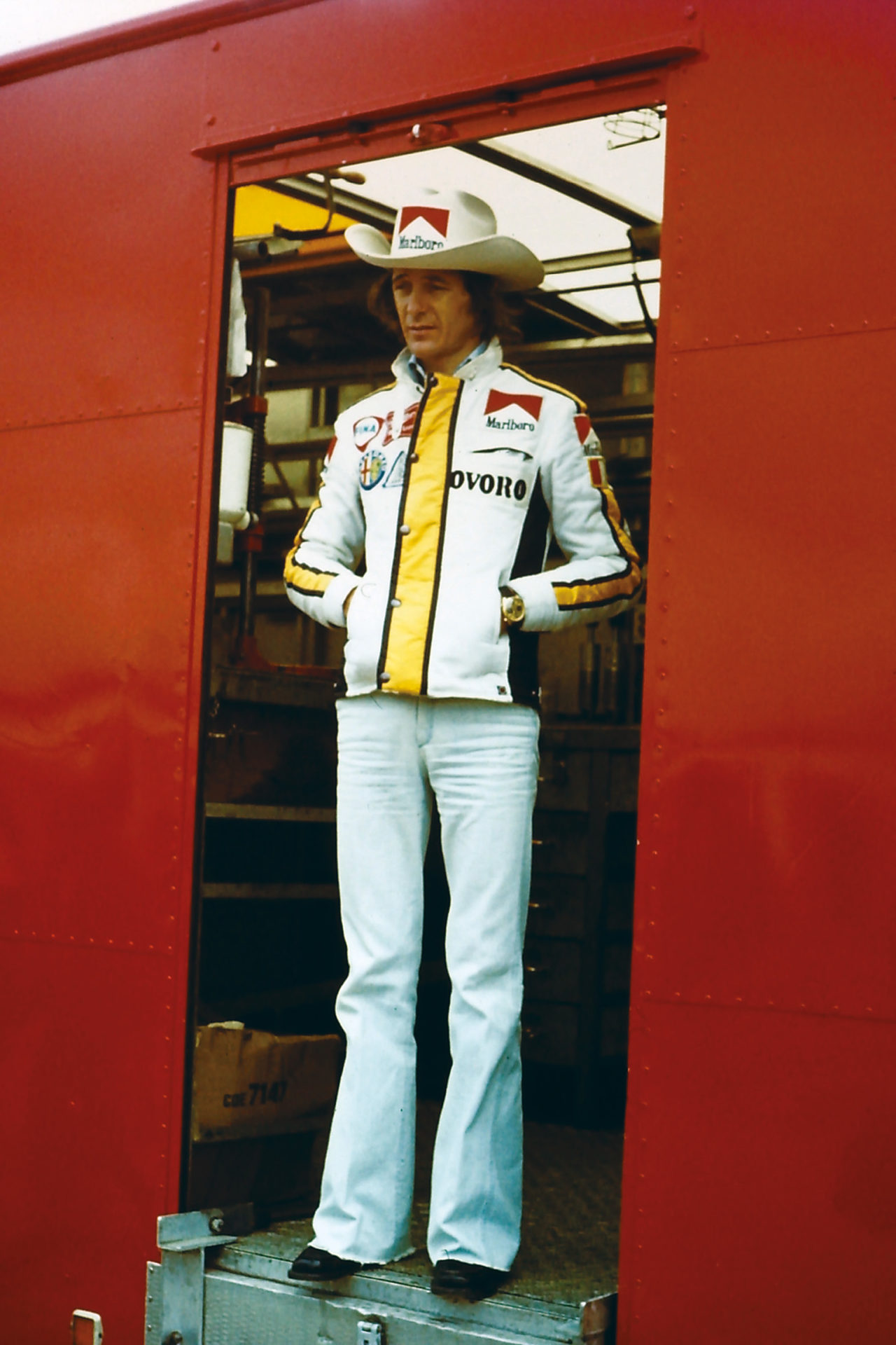 Despite being very much Italian, Arturo Merzario brought a bit of Wild West culture wherever he went with his signature cowboy hat