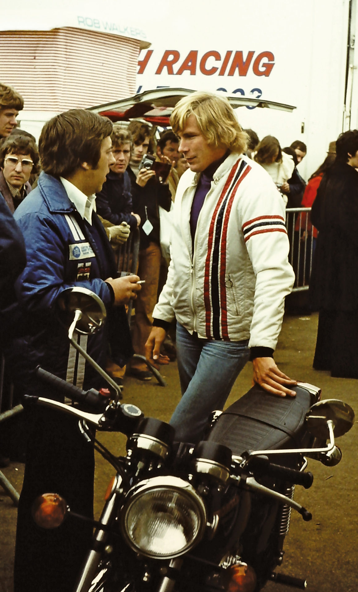 Hunt was an ambassador for Triumph motorcycles