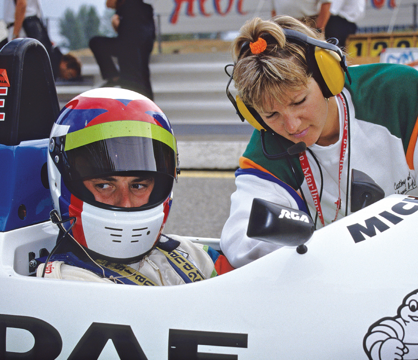 Yvan Muller only did a single F3000 season, in 1993, with Cathy on hand to support him
