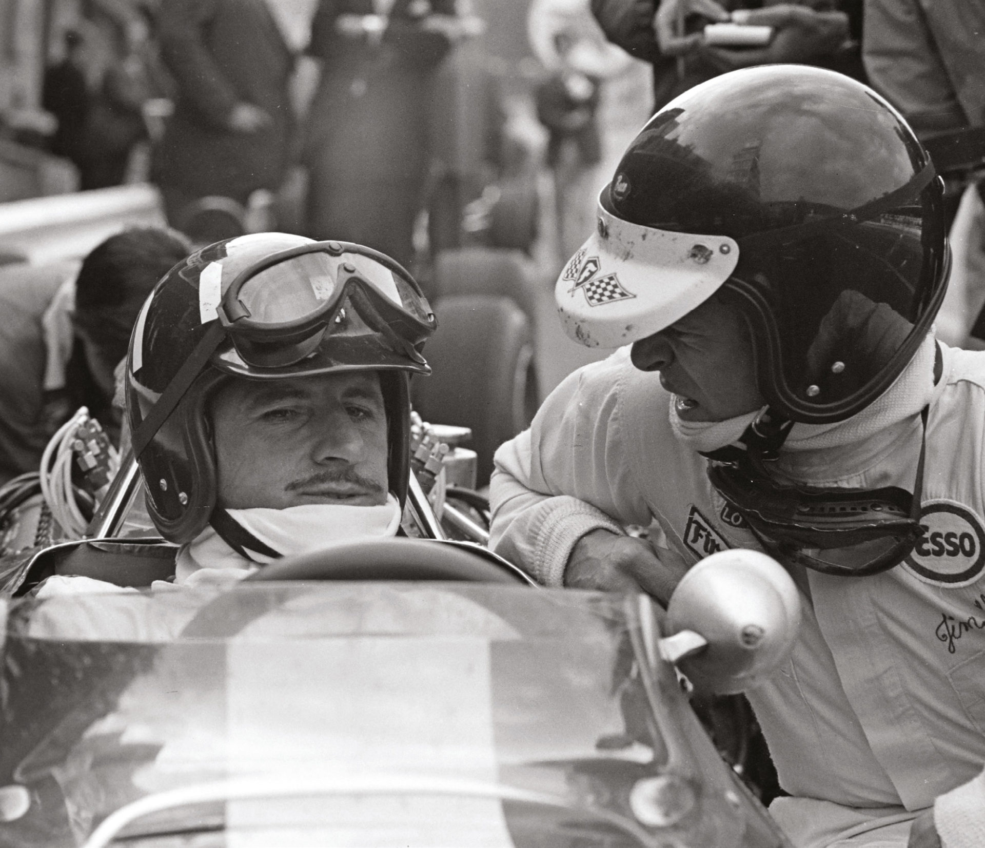 A rivalry based on the utmost respect: Graham Hill and Jim Clark were two giants of their era